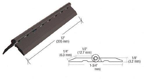 Source One Premium 12 Inch Black Acrylic Plastic Piano Hinge (S1-Black Hinge) ()