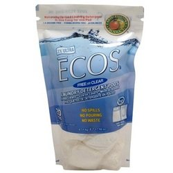 EARTH FRIENDLY LAUNDRY ECOS DET PODS FRE, 17.98 OZ