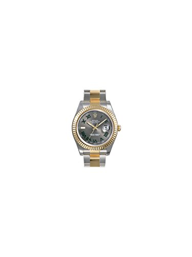 Rolex Datejust II Grey Roman Dial 18kt Yellow Gold Bezel Two Tone Oyster Bracelet Mens Watch 116333GYRO
