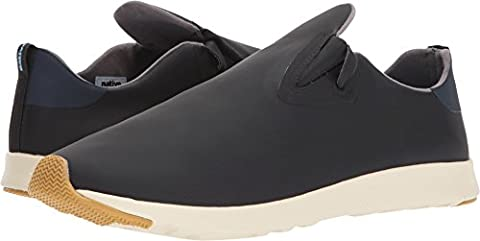 Native Shoes Unisex Apollo Moc Jiffy Black/Regatta Blue/Bone White/Natural Rubber 10 Women / 8 Men M (Size 8 Native Shoes)