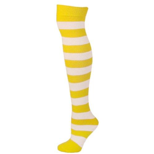 Sja calcetines lim adultos Ajs amarillo Striped 8xntf0qCw5