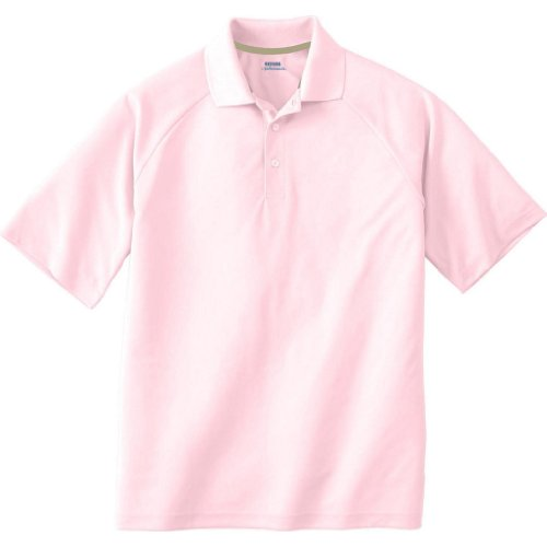 Ash City Mens E Performance Pique Polo Shirt (Medium, Powder - Shirt Pink Bowling