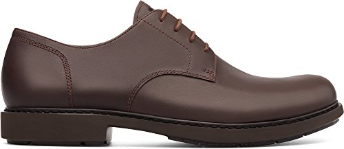 (Camper Men's Neuman Oxford Flat Dark Brown 43 Standard US Width EU (10 US))