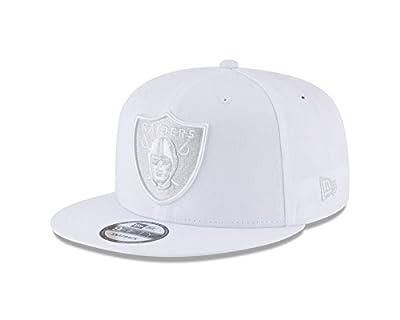 New Era Oakland Raiders Tonal Pastel White 9Fifty Snapback NFL Adjustable Hat by New Era