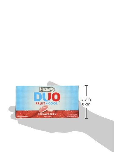 034000006656 - ICE BREAKERS DUO Fruit + Cool Mints, Strawberry Flavor, Sugar Free, 1.3 Ounce Container (Count of 8) carousel main 6
