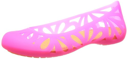 Crocs Adrina3flatw Ballerine Damen Rosa (vibrante Rosa / Arancio Cosmica)
