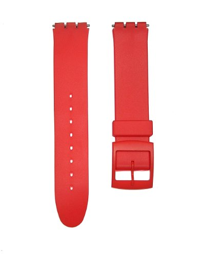 17mm RED Replacement Watch Band for Standard Gents Swatch Watch