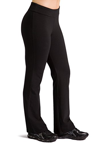 Fishers Finery Women's Ecofabric Classic Bootleg Yoga Pant (Black, XL - Boot Tall Stretch