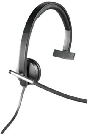Logitech H650e - Auriculares de diadema abiertos (con micrófono, control integrado, USB)
