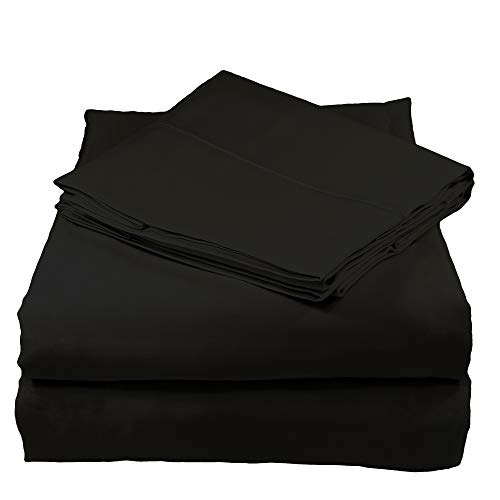 Whisper Organics 100% Organic Cotton Bed Sheet Set, 300 Thread Count - GOTS Certified (Full, Asphalt)