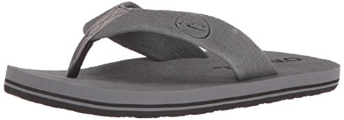 Gray Sandals Mens - O'Neill Men's Phluff Daddy Flip-Flop Grey Solid 11 M US
