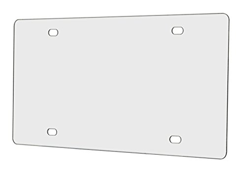 Plastic License Plate Holder - Marketing Holders Plastic License Plate Protector (Clear)- Fits All Vehicles
