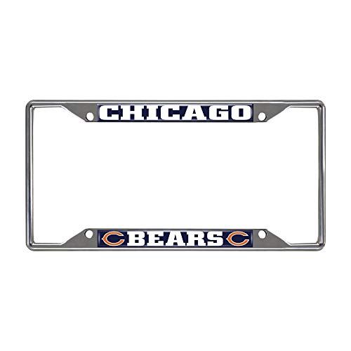FAN MATS 15031 NFL Chicago Bears Metal License Plate Frame