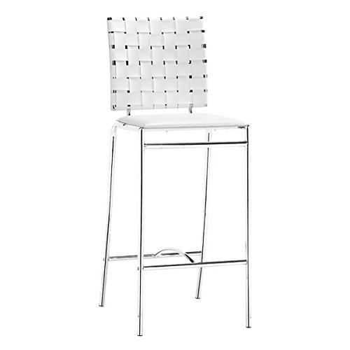 Zuo Criss Cross Counter Chair (Set of 2), White
