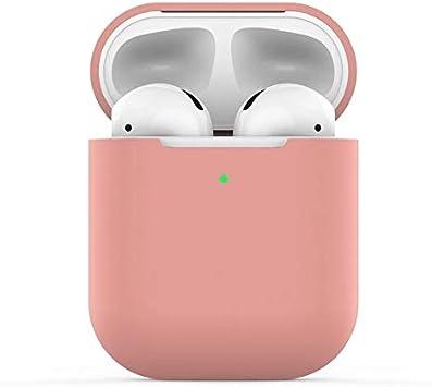 - Extra protecci/ón - Negro KOKOKA Funda AirPods Silicona Compatible con Apple AirPods 2 /& 1 sin complicaciones Funciona con Carga inal/ámbrica LED Frontal Visible