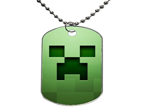 animefans hot anime minecraft Customize Fashion Cool Gift ,Aluminum Oval Dog tag Pet tag Necklace Pendant Chain