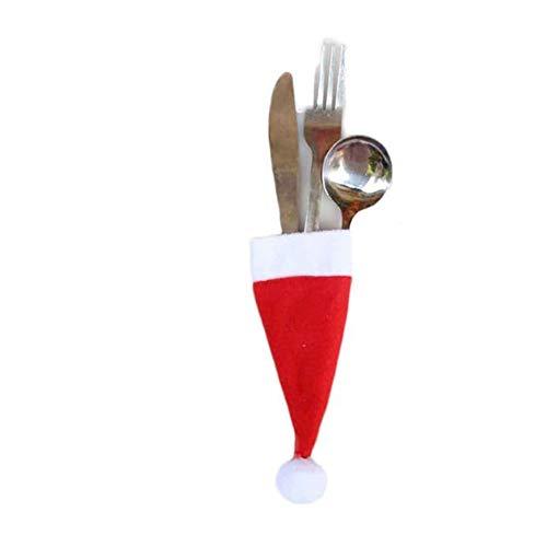 Inverlee Christmas Decorations Santa Silverware Holders Pockets Dinner Decor (1PCS)