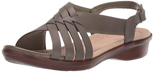 CLARKS Women's Loomis Cassey Sandal Olive Leather 110 W US
