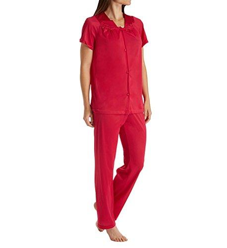 Exquisite Form Women's Plus Size Coloratura Sleepwear Short Sleeve Pajama Set 90807, Sparkling Rose, 2X-Large
