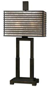 Uttermost 26291-1 Becton Modern Metal Table Lamp, Bronze