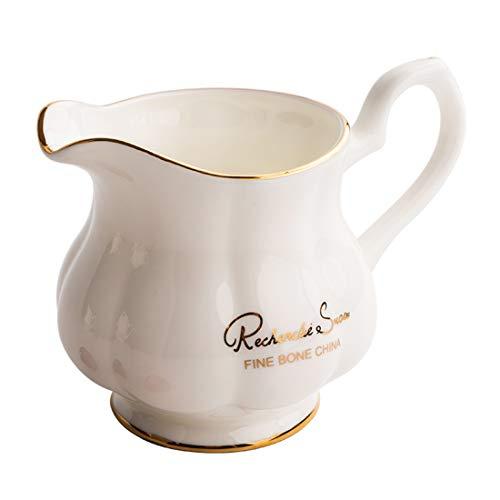 - Cool Lemon Nordic Style Simple Bone China Porcelain Ceramic Golden Line Creamer Pitcher Milk Jar Gift for Friends