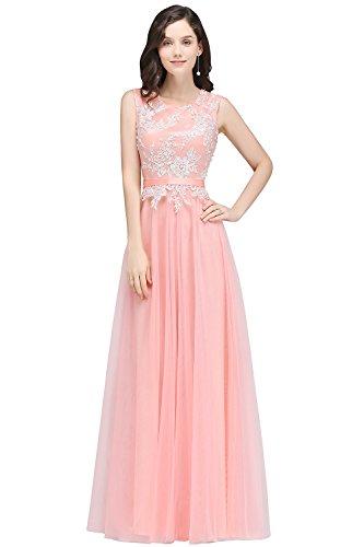 Elegant Tüll Jugendweihe Abendkleid 46 Lang Damen Hochwertig Abschlusskleid Rosa 2018 32 Spitzenkleid Kleid Ballkleid Gr UqwAdHFqx