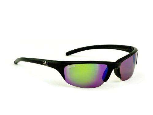 Calcutta Bermuda Sunglasses (Black Frame, Green Mirror Lens) by Calcutta