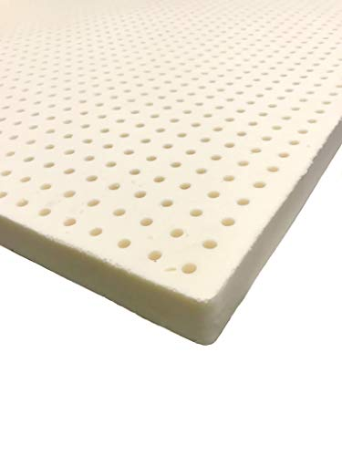 Organic Latex Supreme Mattress Topper (GOLS Certified), Premium Organic Cotton Covering. Best for Pressure Relieving, Organic Purity, Assembled in USA. 20 Year Warranty. Queen Size,Medium Firm 2 inch