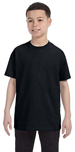 Jerzees Youth 5.6 oz., 50/50 Heavyweight Blend T-Shirt, Large, BLACK (Heavyweight Blend Jerzees Youth)