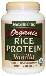 Nutribiotic - Organic Rice Protein Vanilla Powder - 1 lbs. 5 oz.
