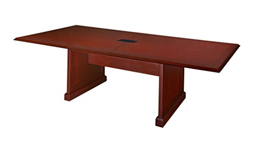 Rich Wood Inlaid Mahogany - Regency Prestige 120-Inch by 48-Inch Conference Table with Power Data Grommet, Mahogany