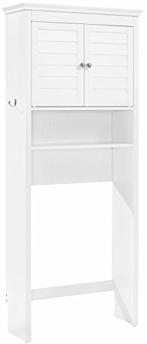 Crosley Furniture Lydia Space Saver Bathroom Cabinet - White by Crosley Furniture