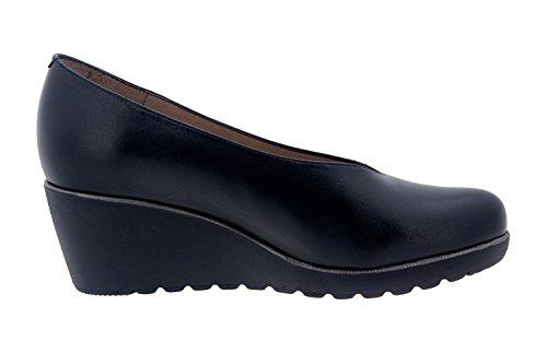 En Cuir Pour De 7778 Confortables Chaussures Noir Femmes Largeur Repose Salon pieds Tout Confort fdxvwq7