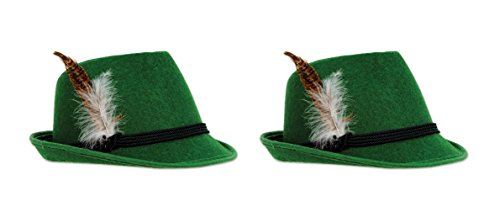 Beistle 60345 Deluxe Alpine Hat, One Size Fits Most, 2 Piece (Deluxe Alpine Hat)