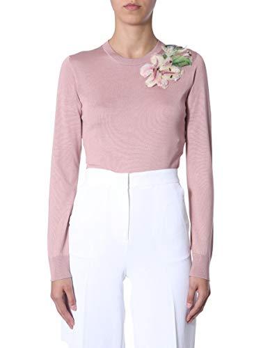 Dolce e Gabbana Women's Fx152zjashef0052 Pink Silk Sweater