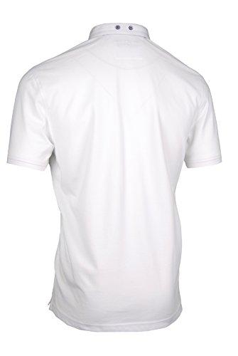 Premium-Poloshirt von Giorgio Capone, einzigartiger Hemdkragen, Pique-Stoff 100% Baumwolle, weiß, Regular Fit