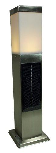 システック LED ソーラーポールライト スリムタイプ 白色シルバー SPL-SL-WHS B00I3XA20E 17375 白色|シルバー|1本 シルバー 白色