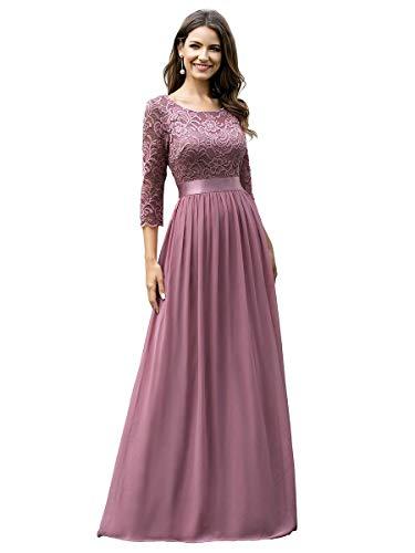 Ever-Pretty Dames A-lijn 3/4 Mouwen Empire Taille Elegant Chique Gala en Avondjurken 07412