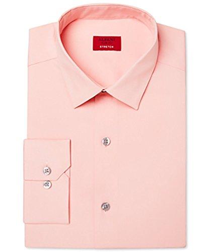 Alfani Spectrum Mens Slim-Fit Stretch Shirt (Peach, 17-17.5 X 34/35) from Alfani