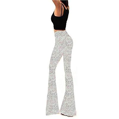 Pantalones Largos de Pierna Ancha de Verano de ashion Camuflaje Floral de Cintura Alta: Ropa y accesorios