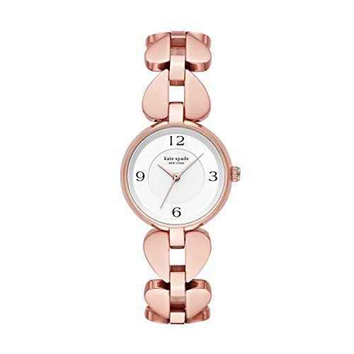 Kate Spade Women's Annadale Quartz Watch with Stainless Steel Strap, Rose Gold, 18 (Model: KSW1527)