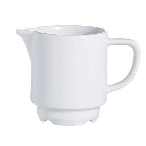 (Arcoroc R0817 Candour White 3-1/2 Oz. Creamer - 16 / CS)