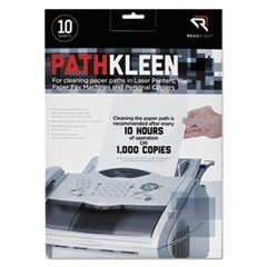 ** PathKleen Printer Roller Cleaner Sheets, 8 1/2 x 11, 10/Pack **