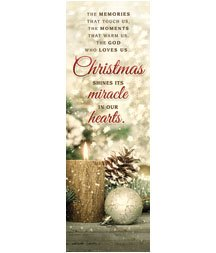 Christmas Bookmark - Bookmark - Christmas - ....Christmas shines its miracle in our hearts (Pack of 25)