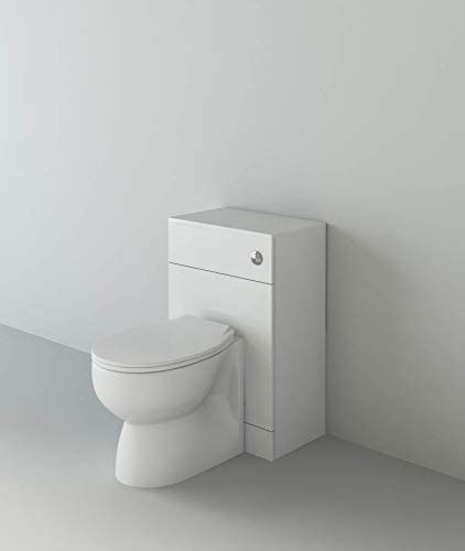 VeeBath Linx Complete High Gloss White Bathroom Toilet Furniture Set with Essentials Pan Seat and Cistern - 500 x 300mm