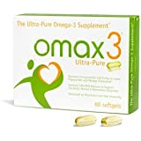 Omax3 - The Ultra Pure Omega-3/Essential Fatty Acid/Fish Oil supplement. 100% Free Of Contaminants and Toxins. 16 More Omega-3 than Krill Oil Maximum Concentration and Purity to Lower Triglycerides and Manage Cholesterol. 2 Servings of Capsules 1.5g Omega-3 Fatty Acids 1125 mg Epa and 275 DHA Unique Patented 4:1 ratio of EPA:DHA