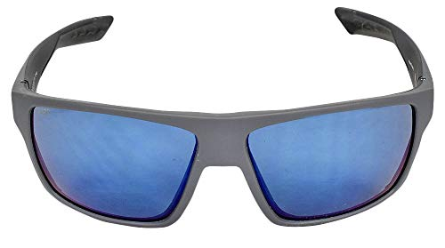 Costa Del Mar Bloke 580P Bloke, Matte Gray Matte Black Blue Mirror, Blue Mirror For Sale