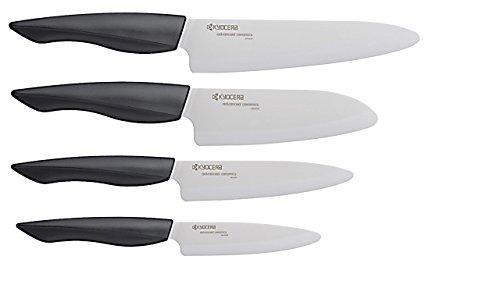 Kyocera FZ-4PC WH-BK Innovation Series Ceramic Knife, 7″/5.5″/5″/4.5″, White