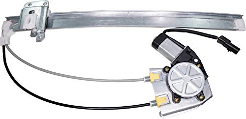 APDTY 111277 Window Motor & Regulator Assembly Rear Left Driver-Side Upgraded Cable Style Fits 2002-2007 Jeep Liberty (Ball Stud & Clip Type Glass Attachment; Replaces 68059647AA, 55360035AJ)