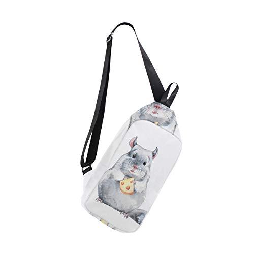 Borsa Daypack dello Totoro a zaino Crossbody viaggio tracolla Ezioly escursionismo e Busto donne uomini per vftwx5x